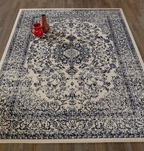 Oriental Design Ivory Navy Area Rugs Runners