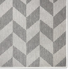 Geometric Black Grey Indoor/Outdoor Area Rug - UV/Weather Resistant