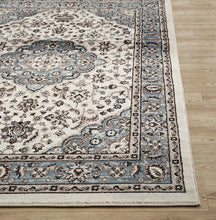 Traditional Blue Medallion Floral Area Rug