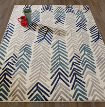 Floral Ivory/Navy/Grey/Gray/Teal Area Rugs