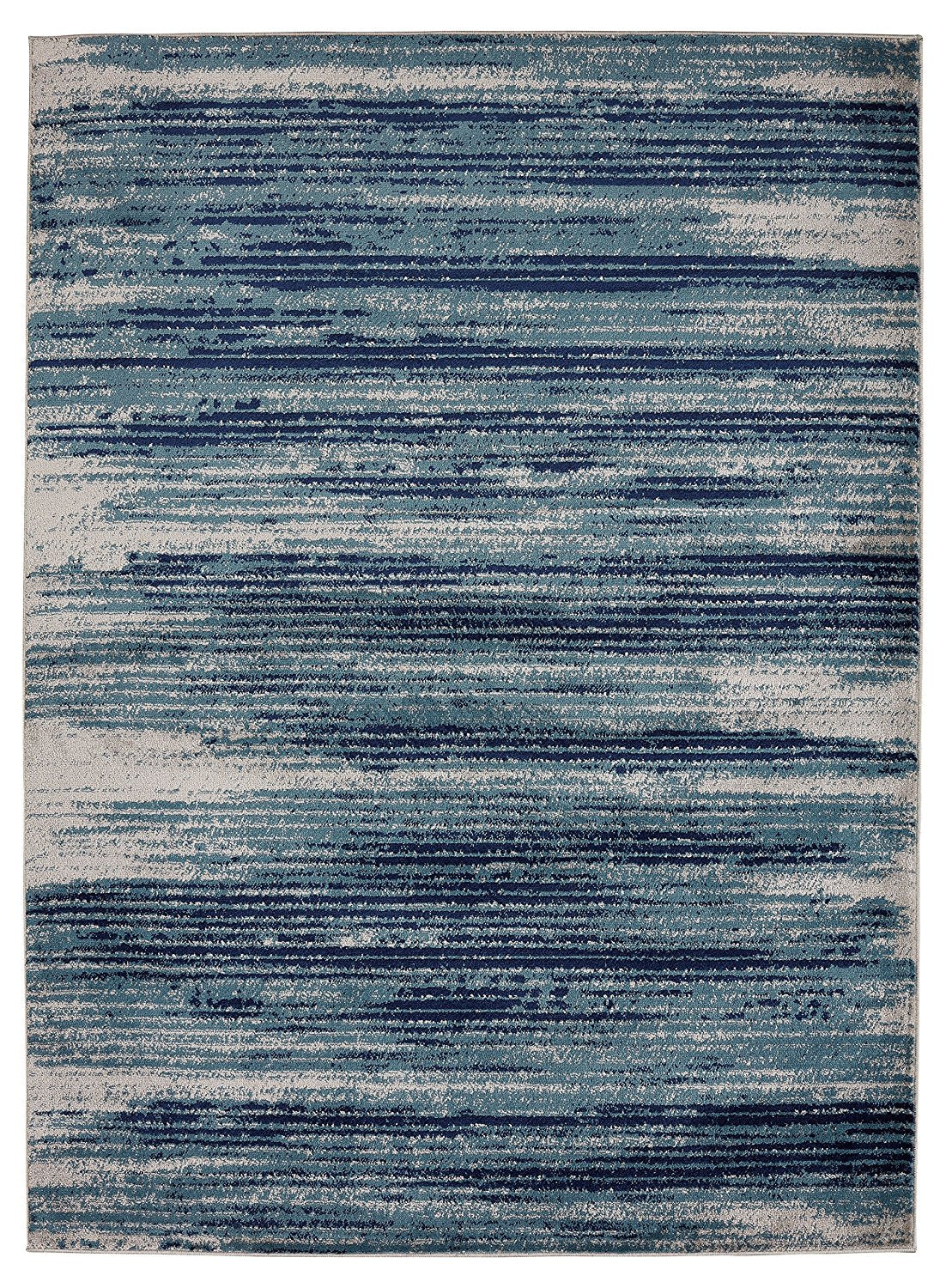 Stripes Design Teal Navy Beige Area Rugs Modern Rugs And Decor