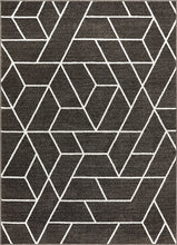 Modern Geometric Angles Tiles Gray Ivory Area Rugs