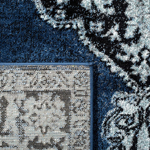 Oriental Persian Distressed Area Rug, Blue/Grey