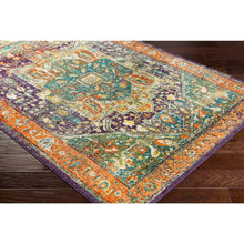 Traditional Green & Orange Multi Area Rug
