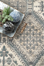 Transitional Panel Bordered Charcoal Soft Area Rug