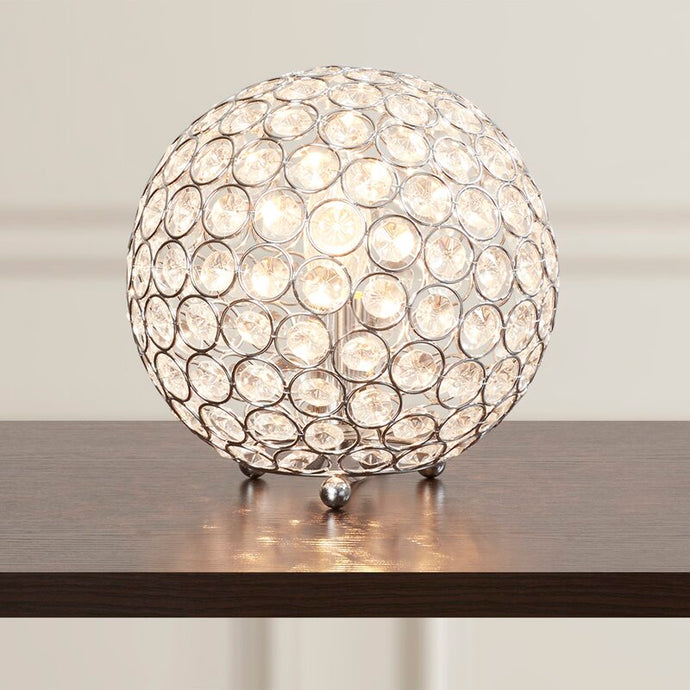 Modern Metal Chrome 8 inch Lamp