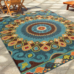 Pacheco Indoor/ Outdoor Blue Area Rug