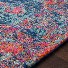 Distressed Vintage Pink Blue Area Rugs