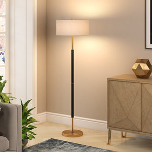 "Contemporary Metallic Accents 61.5"" Floor Lamp"