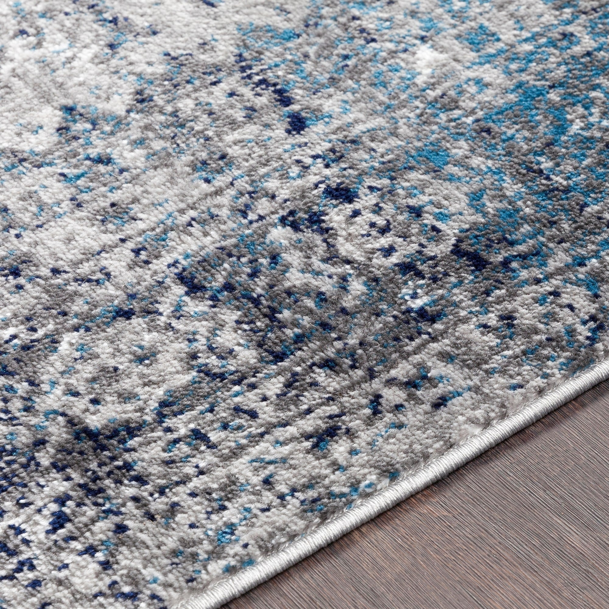 Oriental Distressed Persian Pattern Sky Blue Light Gray Soft Area Rug Modern Rugs And Decor
