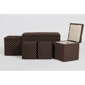 5 Piece Cloth Tufted Storage Ottoman