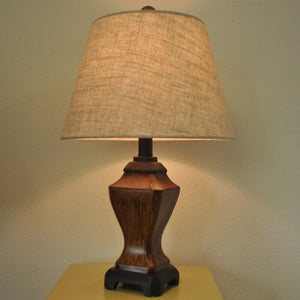 "Traditional Wooden Looking 19"" Table Lamp Set (Set of 2)"