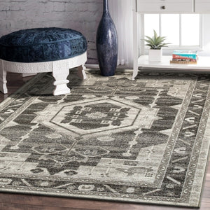 Southwestern Medallion Gray Area Rug