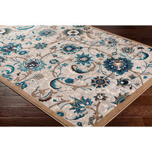 Traditional Floral Grey Blue Brown Area Rug