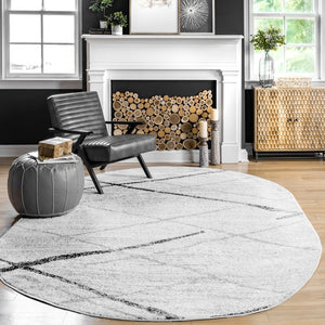 Stripes Light Gray Soft Area Rugs