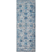 Traditional Distressed Persian Pattern Sky Blue Light Gray Soft Area Rug