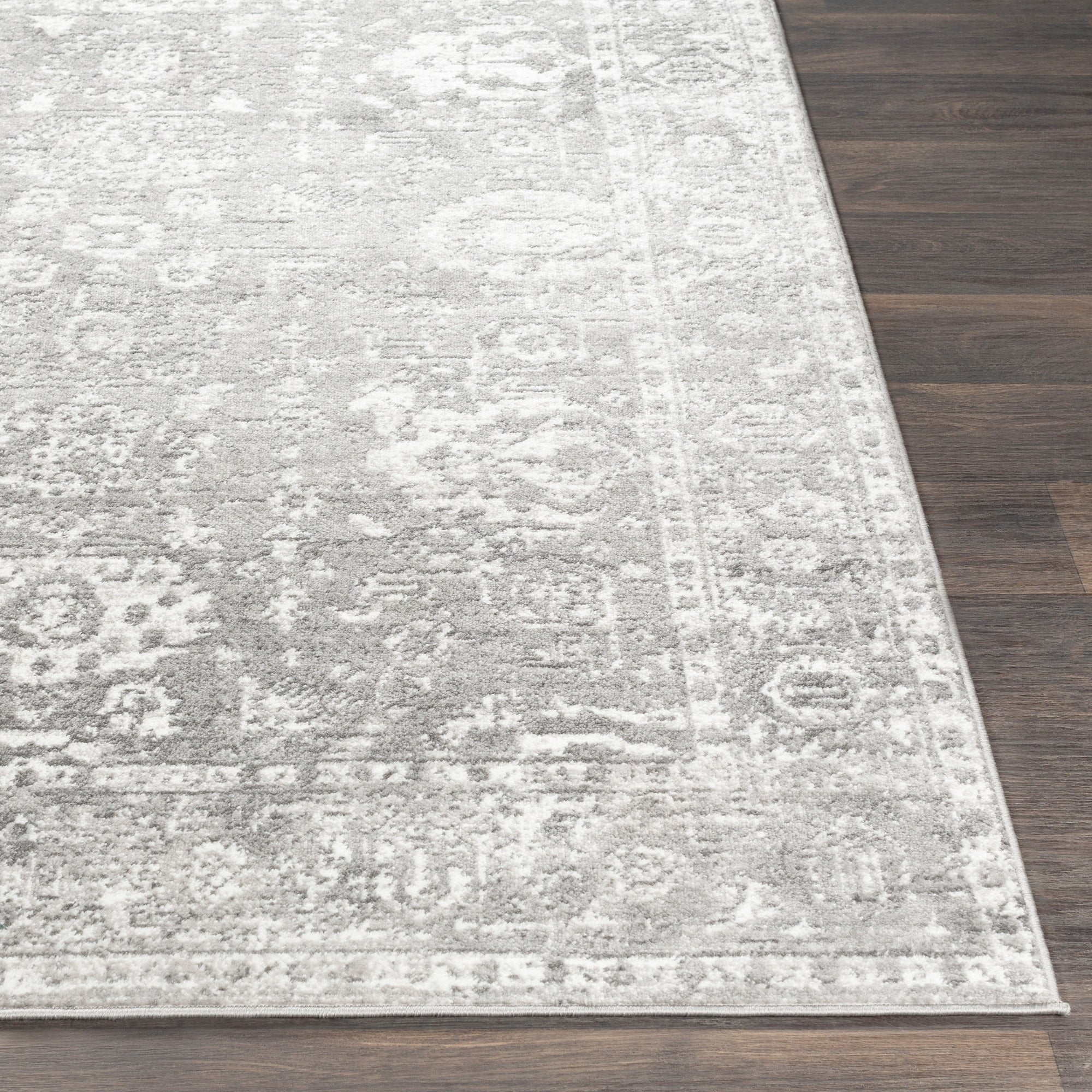 Distressed Light Gray White Soft Area Rug Modern Rugs