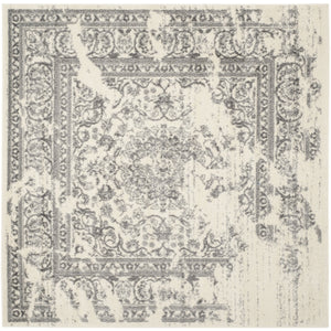 Luxurious Vintage Ivory Silver Area Rugs