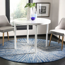 Contemporary Burst Pattern Navy Ivory Soft Area rugs