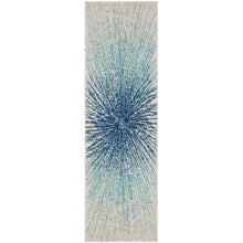 Contemporary Burst Pattern Royal Ivory Soft Area rugs