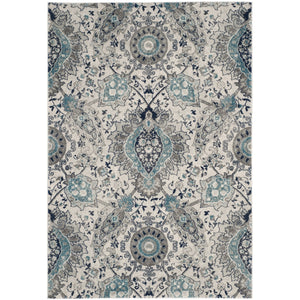 Floral Cream/ Light Grey/Gray Area Rugs
