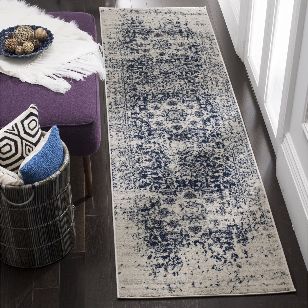 Contemporary Cream/ Navy Rugs
