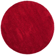 Red Soft Plush Shag Area Rug