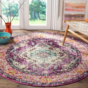 Distressed Violet Light Blue Soft Area Rug