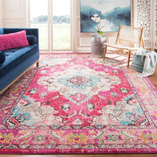 Distressed Pink Multi Blue Soft Area Rug