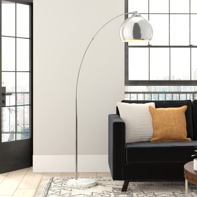 Marble Base 67 inch Arched Floor Lamp