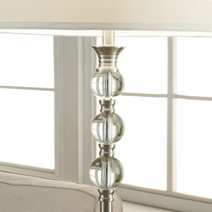 "Traditional Crystal and Metal 61"" Floor Lamp"