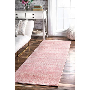 Trellis Pink Soft Area Rugs