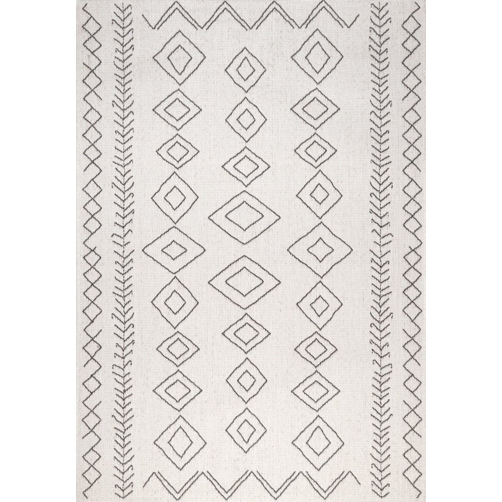 Moroccan Tribal Accent Indoor/Outdoor Area Rugs - Durable/Easy Maintenance
