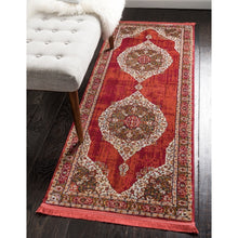 Vintage Traditional Red Ivory Terracotta Area Rugs
