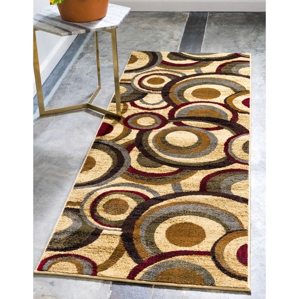 Contemporary Beige Burgundy Multi Color Area Rugs Modern Rugs And Decor