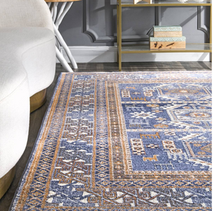 Blue Bohemian Pattern Soft Area Rugs