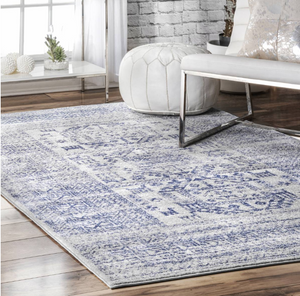 Light Blue Bohemian Pattern Soft Area Rugs