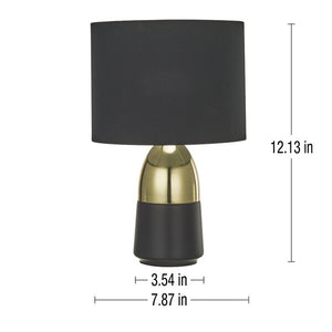 2-Tone 12 inch Table Lamp Set (Set of 2)