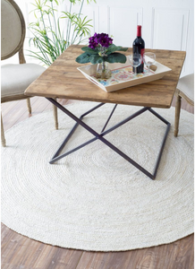 Handmade Braided Off-white Jute Soft Area Rugs