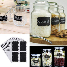 Fancy Black Board Kitchen Decal  Jar Labels - 36pcs