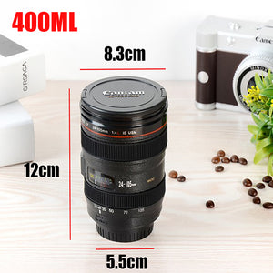 Coffee MUG With Lid - Camera Lens Style