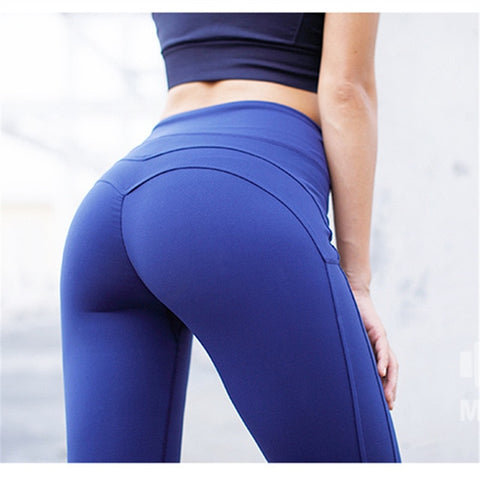 Yoga  Women's Sports Legging Women's Compression Blue