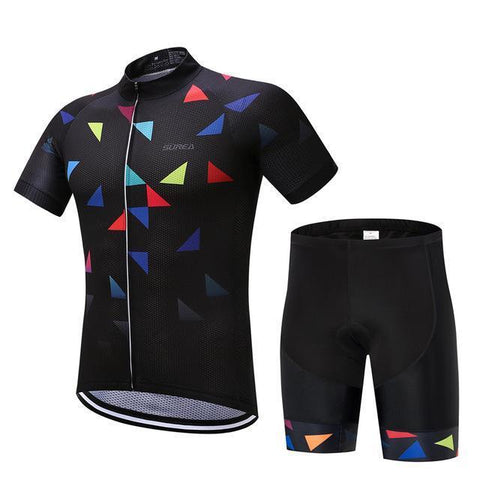 Cycling Kit - Triangles-SteepCycling