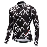 Long Sleeve Cycling Jersey - Mountains