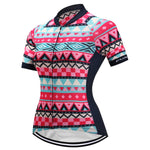 Short Sleeve Cycling Jersey - Shapes