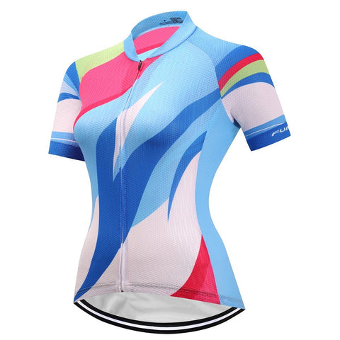 Short Sleeve Cycling Jersey - JoyfulBlue