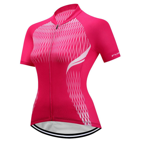 Short Sleeve Cycling Jersey - Fuchsia