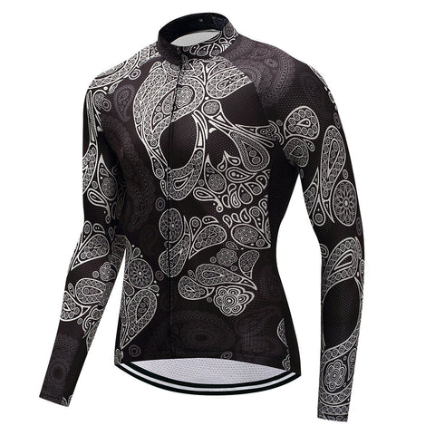 Long Sleeve Cycling Jersey - Skull