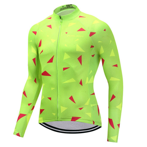 Long Sleeve Cycling Jersey - LimeLines