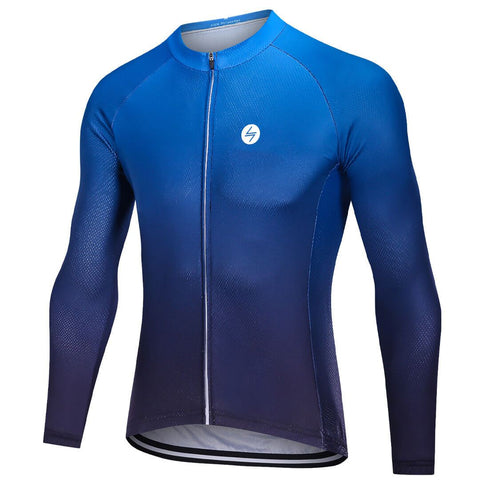 Long Sleeve Cycling Jersey - Lagoon